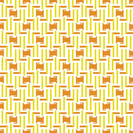 Vector seamless pattern texture background with geometric shapes, colored in orange, yellow and white colors.