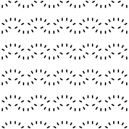 Vector seamless pattern texture background with geometric shapes, colored in white and black colors.