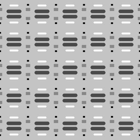 Vector seamless pattern texture background with geometric shapes in grey, white and black colors.