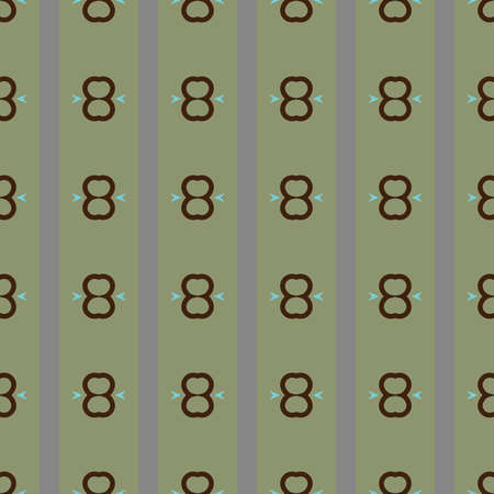 Vector seamless pattern texture background with geometric shapes, colored in green, grey, brown and blue colors. Illustration
