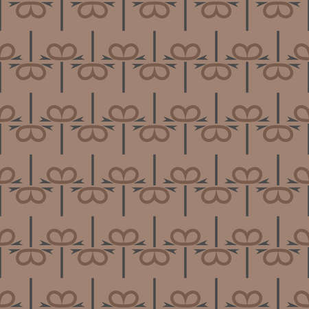 Vector seamless pattern texture background with geometric shapes, colored in brown and grey colors. Illustration