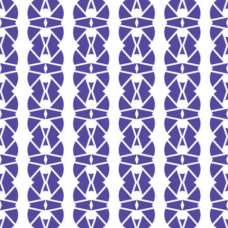 Vector seamless pattern texture background with geometric shapes, colored in purple and white colors. Illustration