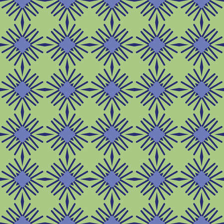 Vector seamless pattern texture background with geometric shapes, colored in green and blue colors. Illustration