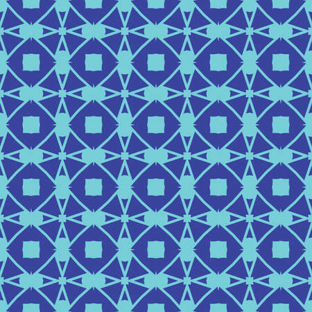 Vector seamless pattern texture background with geometric shapes, colored in blue colors.