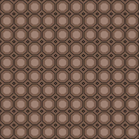 Vector seamless pattern texture background with geometric shapes, colored in brown and black colors.