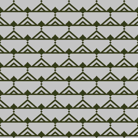 Vector seamless pattern texture background with geometric shapes, colored in green and grey colors.