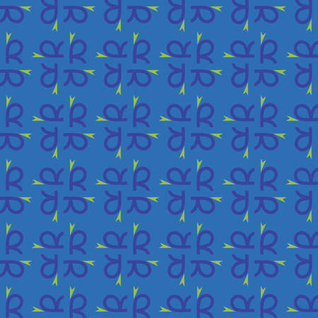 Vector seamless pattern texture background with geometric shapes, colored in blue and green colors. Illustration