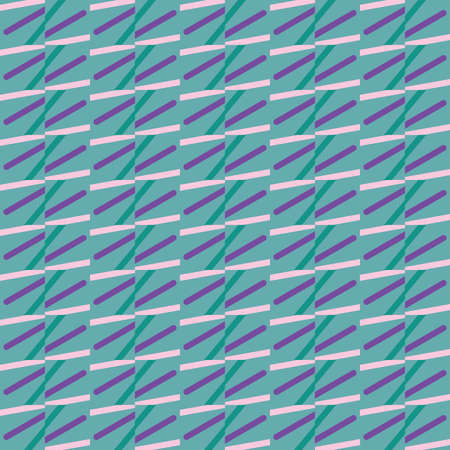 Vector seamless pattern texture background with geometric shapes, colored in blue, green and purple colors.