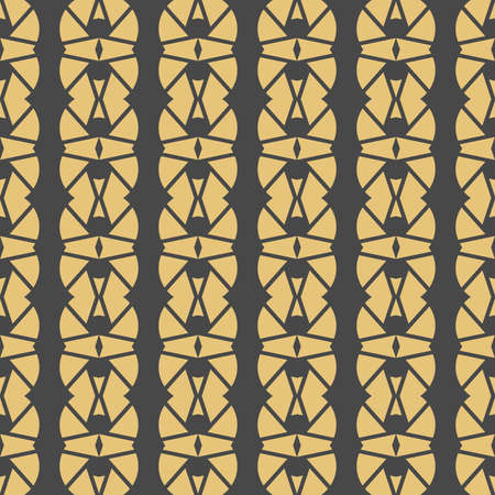 Vector seamless pattern texture background with geometric shapes, colored in yellow and dark grey colors.