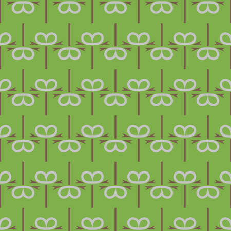 Vector seamless pattern texture background with geometric shapes, colored in green, brown and grey colors. Иллюстрация
