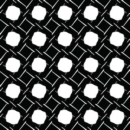 Vector seamless pattern texture background with geometric shapes in black and white colors.