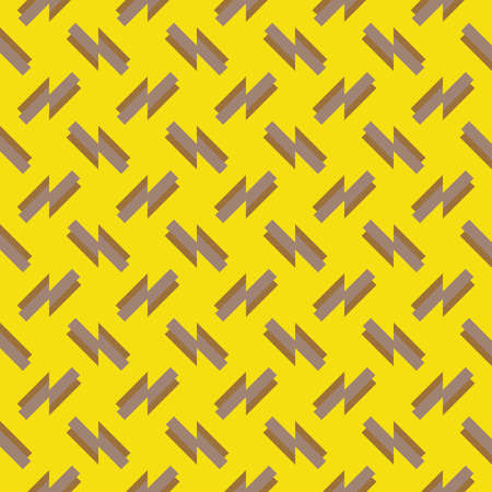 Vector seamless pattern texture background with geometric shapes, colored in yellow and brown colors. Иллюстрация