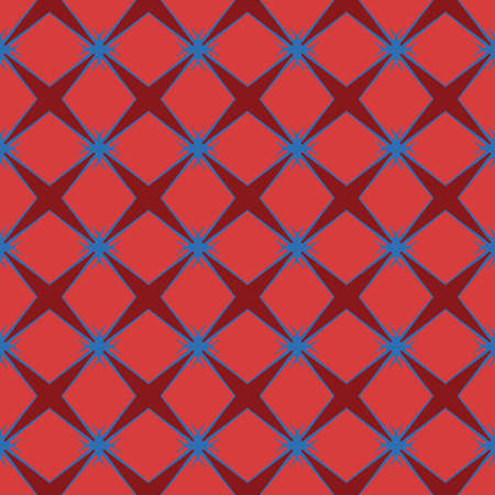 Vector seamless pattern texture background with geometric shapes, colored in red and blue colors.