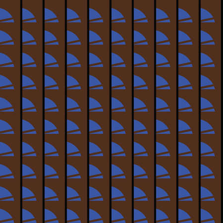 Vector seamless pattern texture background with geometric shapes, colored in brown, blue and black colors. Иллюстрация