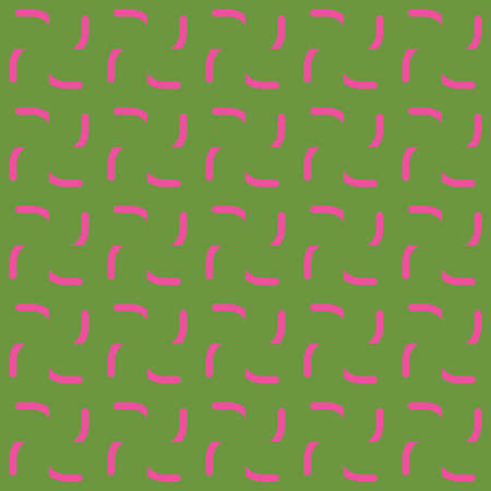 Vector seamless pattern texture background with geometric shapes, colored in pink and green colors.