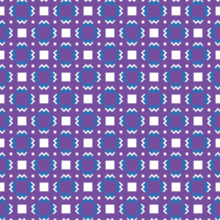 Vector seamless pattern texture background with geometric shapes, colored in purple, blue and white colors.