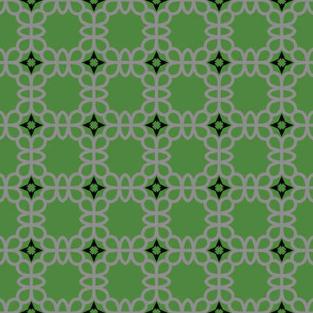 Vector seamless pattern texture background with geometric shapes, colored in green, grey and black colors.
