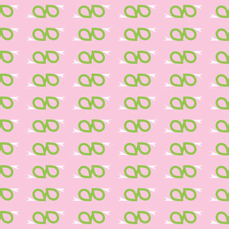 Vector seamless pattern texture background with geometric shapes, colored in pink, green and white colors.