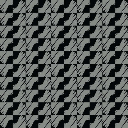 Vector seamless pattern texture background with geometric shapes in grey and black colors.
