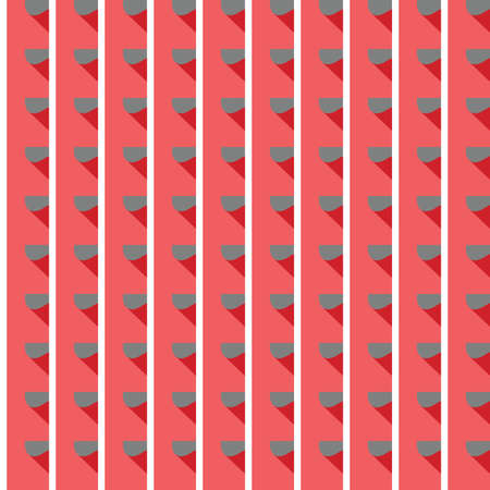 Vector seamless pattern texture background with geometric shapes, colored in red, grey and white colors. Иллюстрация