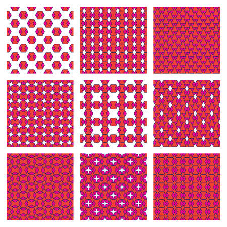 Vector geometric seamless pattern texture