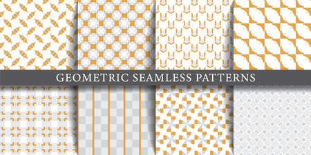 Vector set of geometric seamless patterns