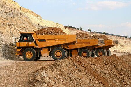 dump: Mining trucks dumper excavator earth mover