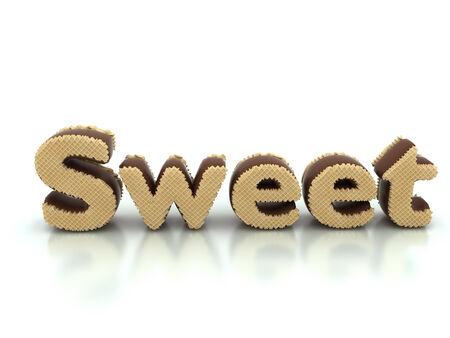 crunchy: Chocolate wafer sweet Stock Photo