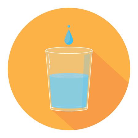 water glass drop Ilustração