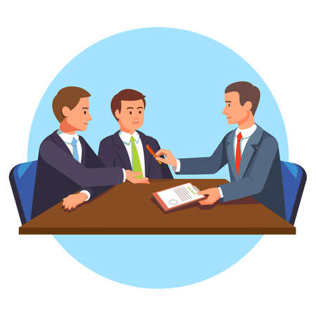 Business people making deals. Contracted executives. People meeting.