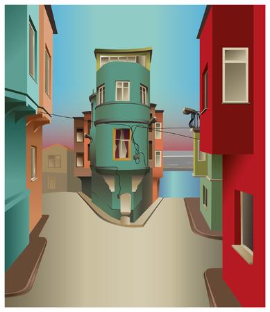 vector drawing istanbul Turkey