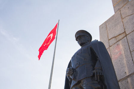 ataturk: Ataturk and flag Editorial