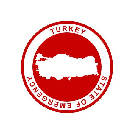 state of emergency, vector, Turkey 向量圖像