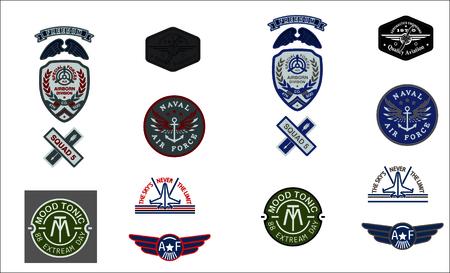 conjunto de la fuerza aérea del emblema del ejército