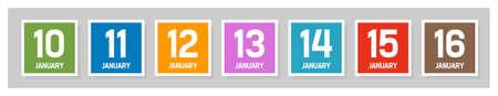Weekly calendar, template - insert your text Stock Vector - 14329264