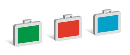 Three cases, 3D symbols with place for your text Illustration