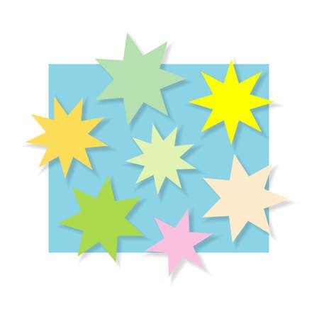 Color stars, background illustration Illustration