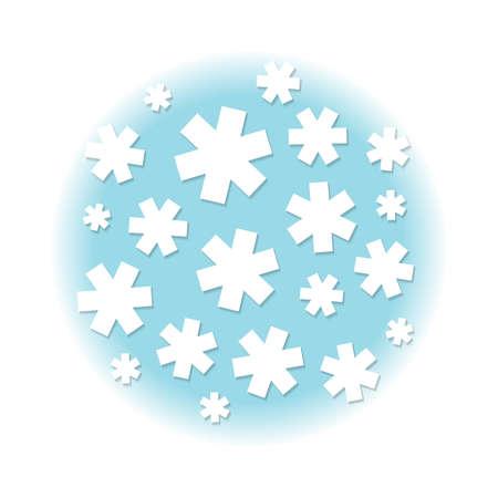 White stars, background illustration
