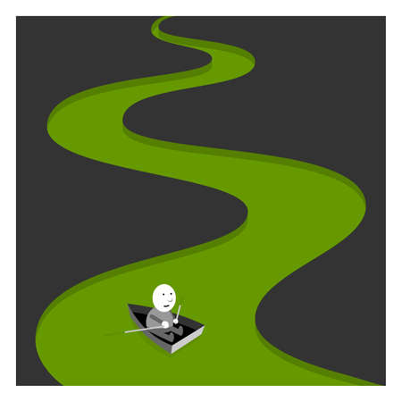 Green river, background illustration Stock Illustratie