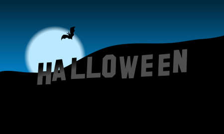 Halloween Hills, illustration, desktop wallpaper Vector