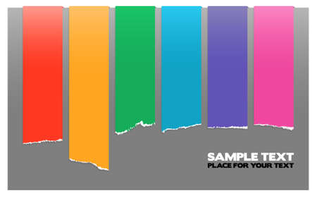 Rainbow color labels, stripes on gray Vector