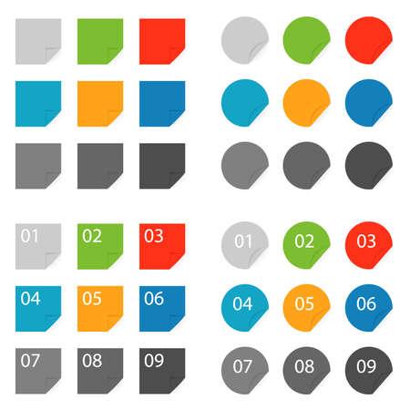 Color labels, set color labels on white Stock Vector - 14724041