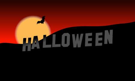 desktop wallpaper: Colinas de Halloween, ilustraci�n, fondo de escritorio Vectores