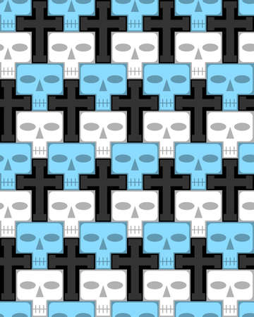 Skulls and crosses, infinite background Vector
