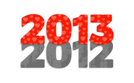 Feliz Año Nuevo 2013, ilustración de dibujos animados Foto de archivo - 14977388