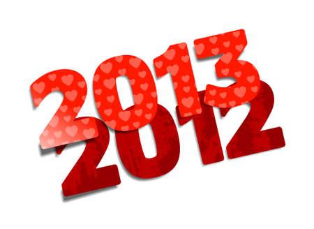 Happy New Year 2013, cartoon illustration Stock Vector - 14977390