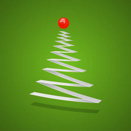 Christmas tree. abstract illustration Stock Vector - 14977381