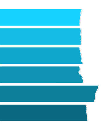 Blue labels, blue stripes on white Illustration