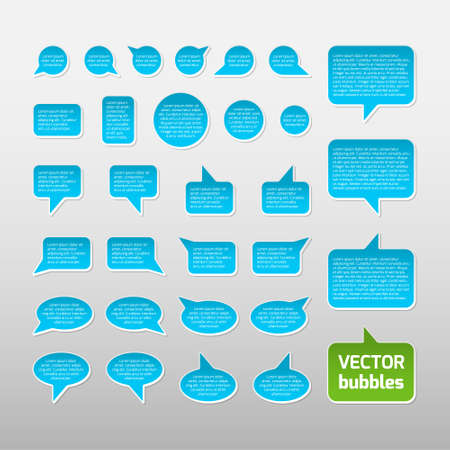 Blue bubbles, templates with place for your text