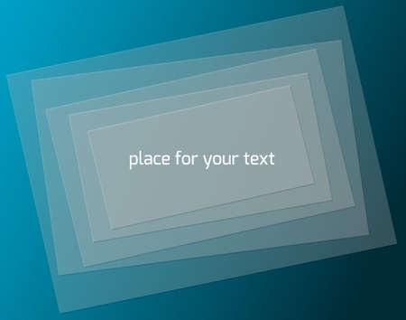 Transparent rectangles, background illustration